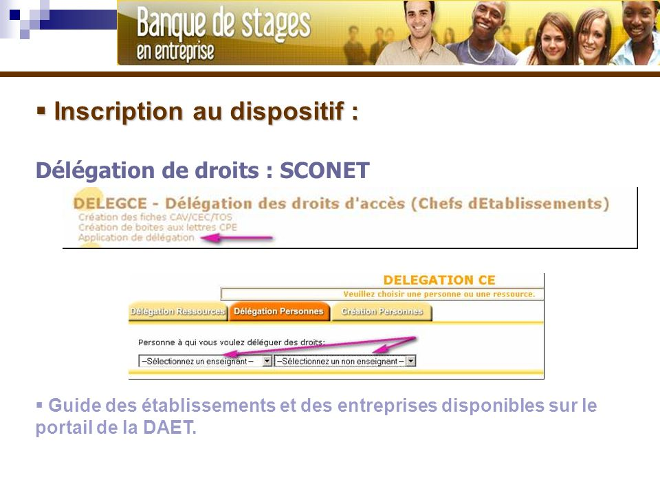 Inscription au dispositif :