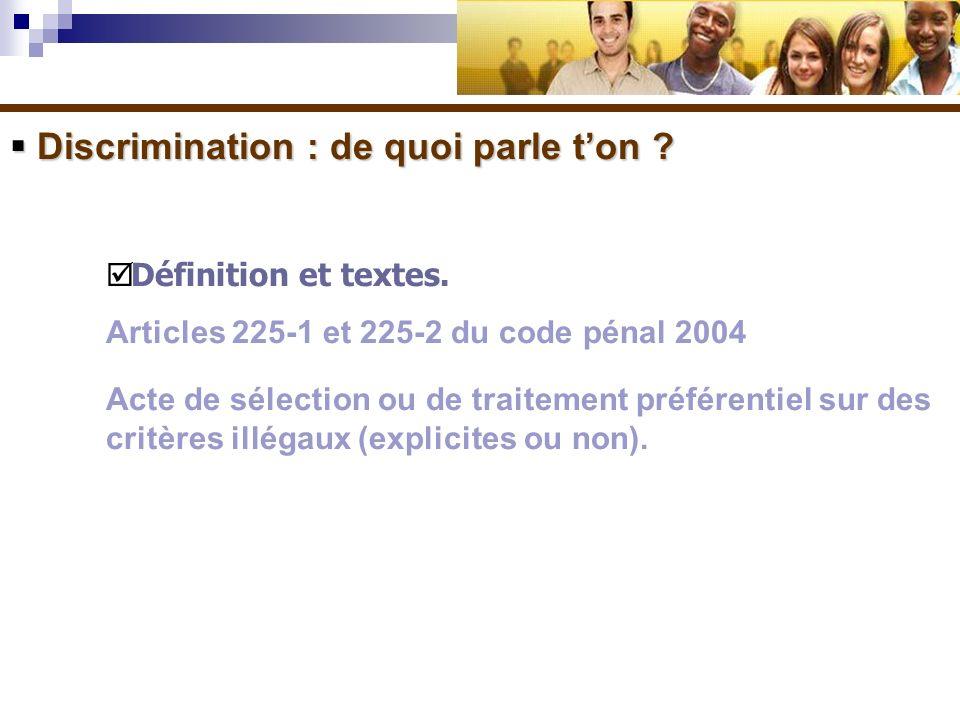 Discrimination : de quoi parle t'on