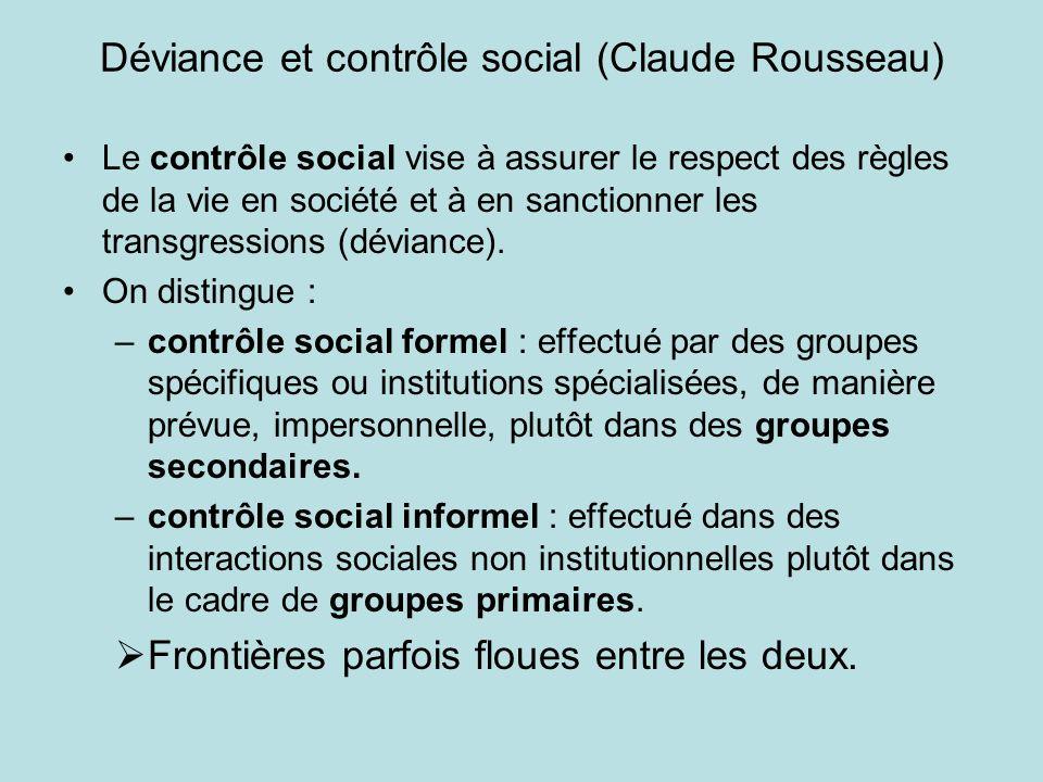 Déviance et contrôle social (Claude Rousseau)