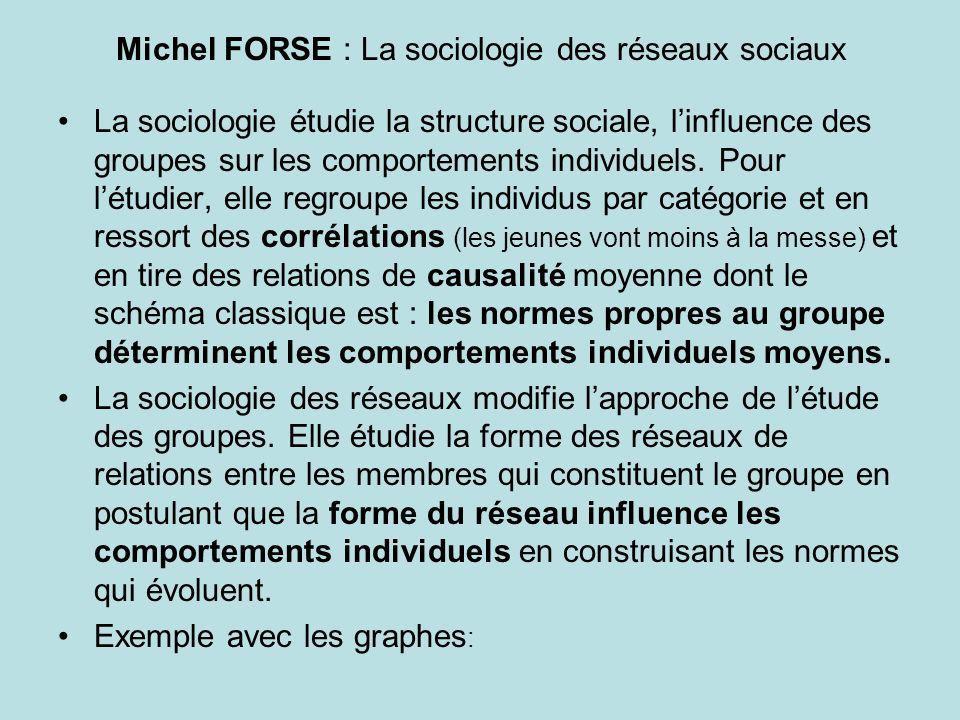 Michel FORSE : La sociologie des réseaux sociaux