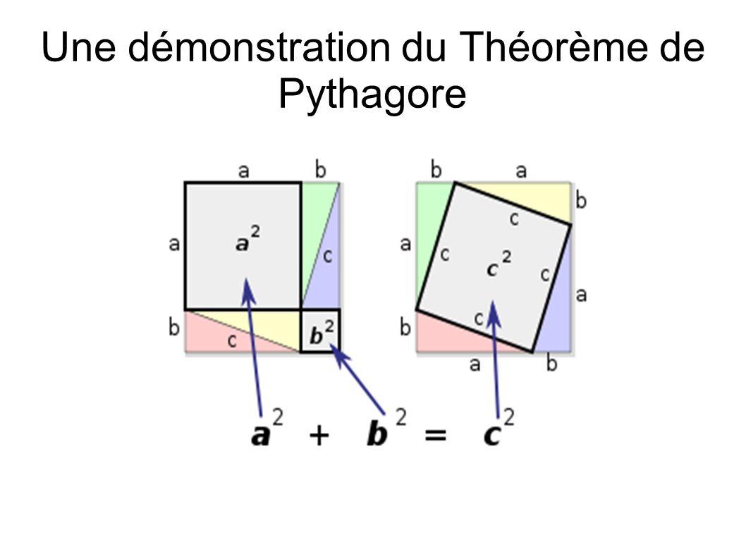 Une démonstration du Théorème de Pythagore