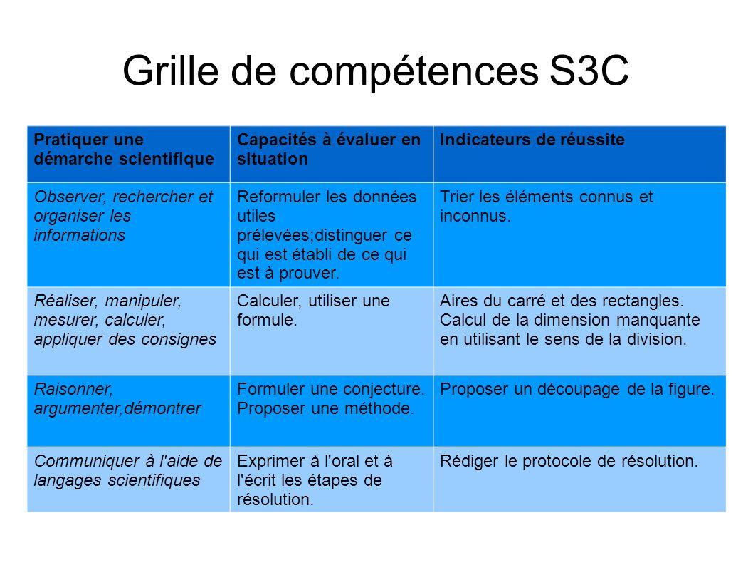 Grille de compétences S3C