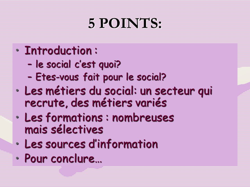 5 POINTS: Introduction :
