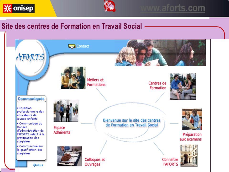 www.aforts.com Site des centres de Formation en Travail Social