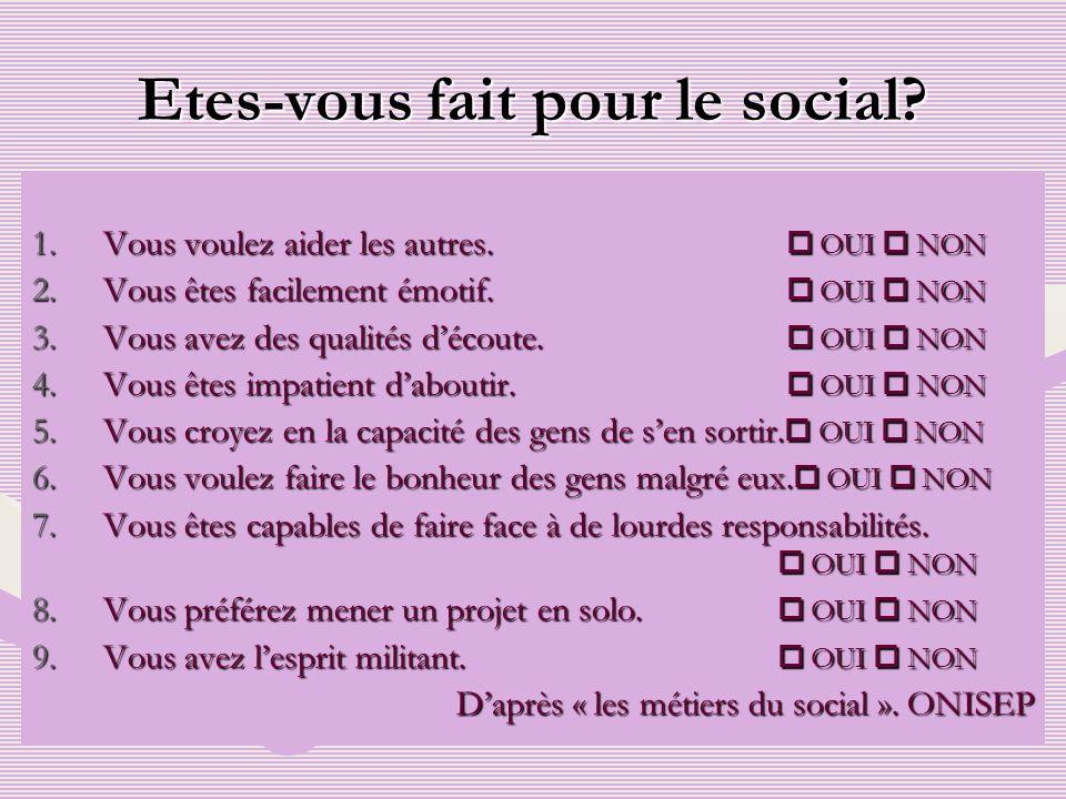 Etes-vous fait pour le social