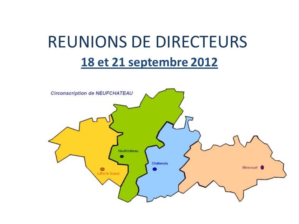 REUNIONS DE DIRECTEURS