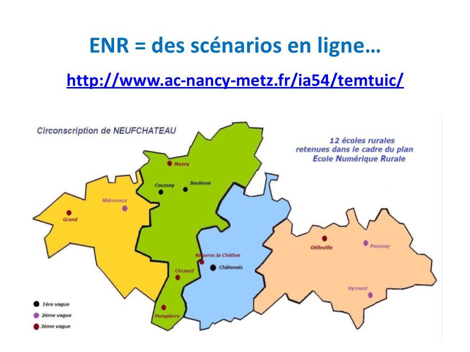 ENR = des scénarios en ligne… http://www. ac-nancy-metz