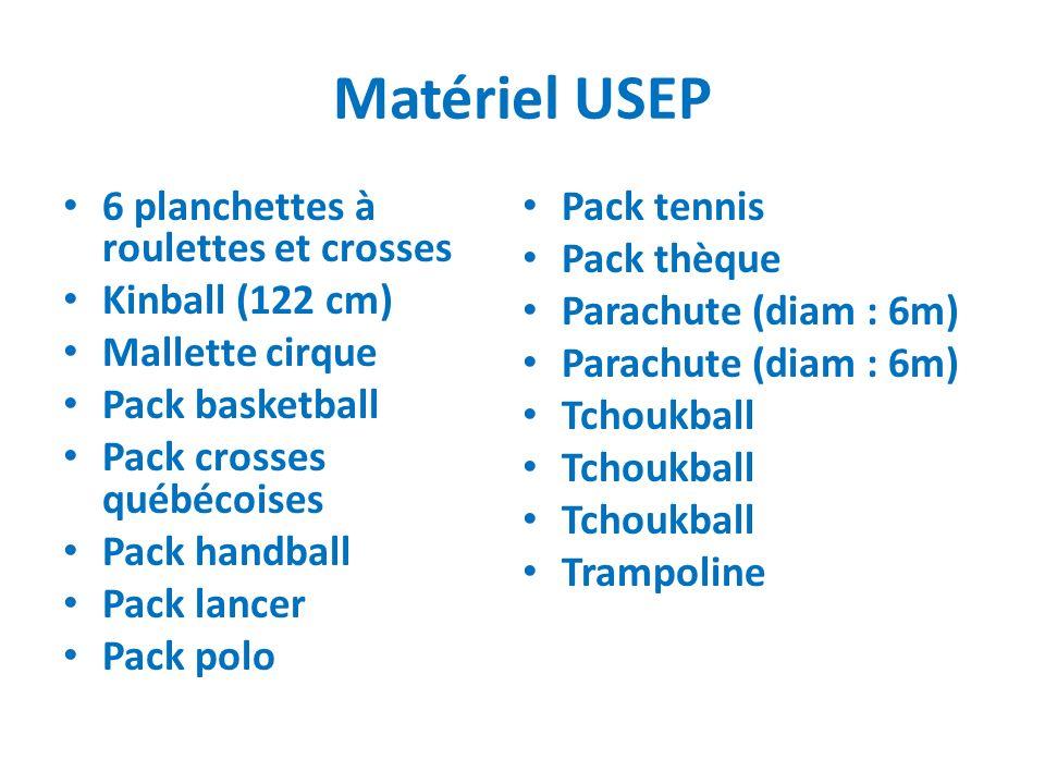 Matériel USEP 6 planchettes à roulettes et crosses Pack tennis