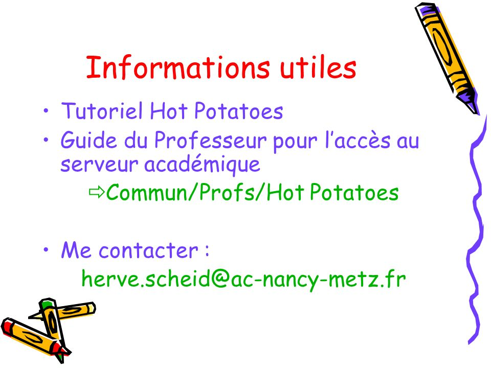 Commun/Profs/Hot Potatoes