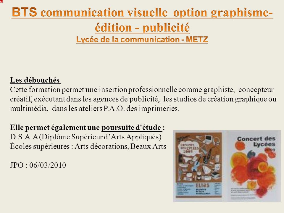 BTS communication visuelle option graphisme-édition - publicité