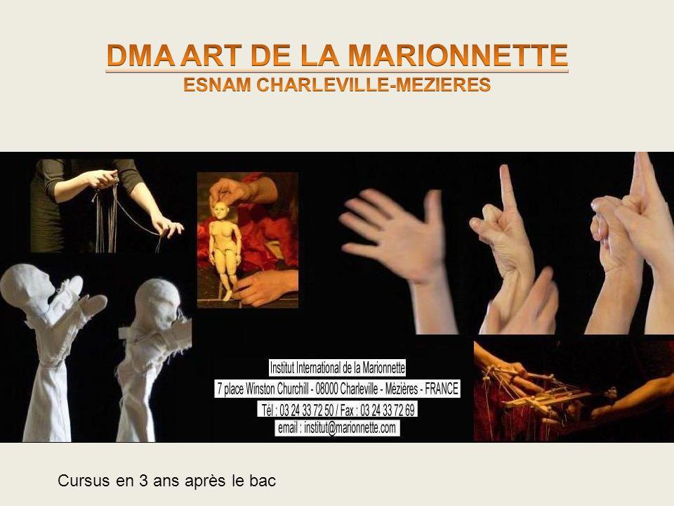 DMA ART DE LA MARIONNETTE ESNAM CHARLEVILLE-MEZIERES