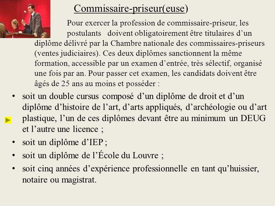 Commissaire-priseur(euse)