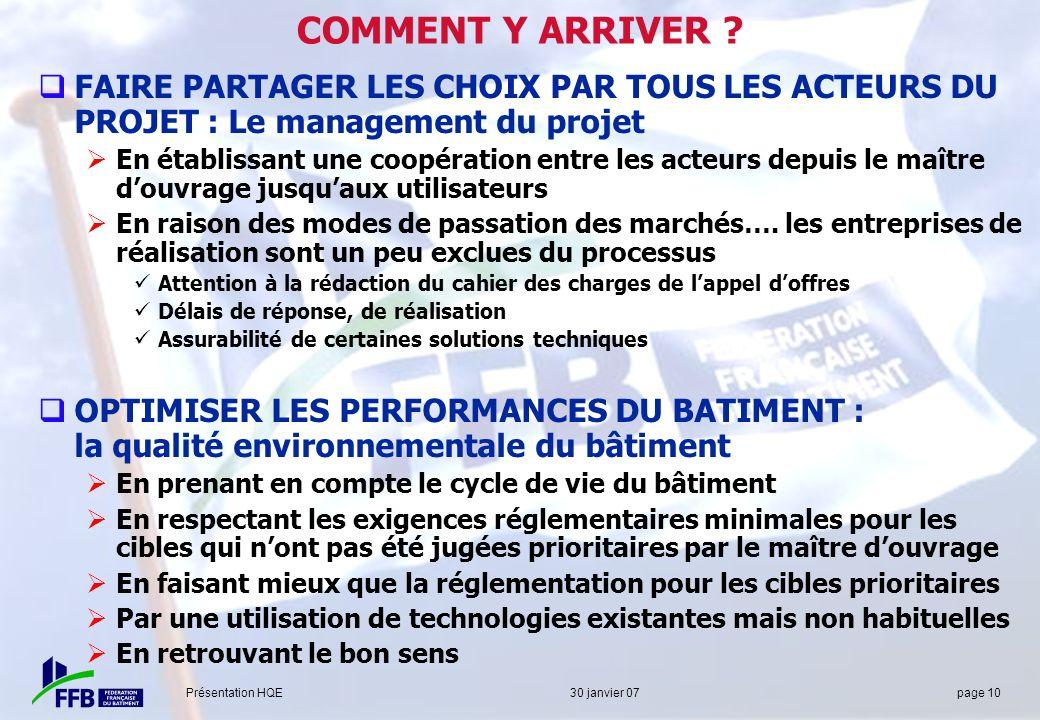 COMMENT Y ARRIVER FAIRE PARTAGER LES CHOIX PAR TOUS LES ACTEURS DU PROJET : Le management du projet.