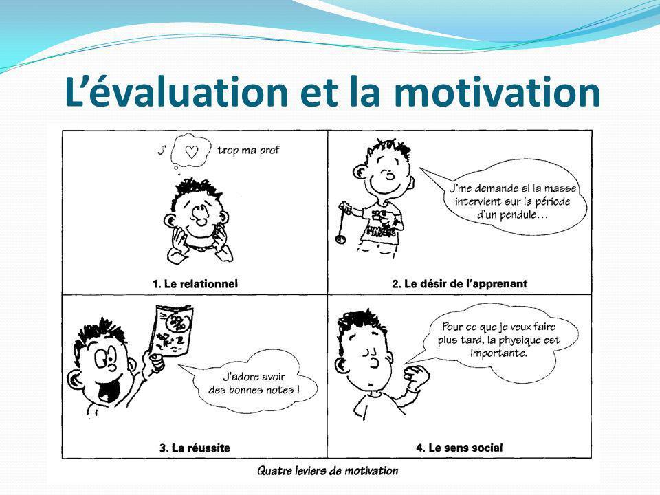 L'évaluation et la motivation