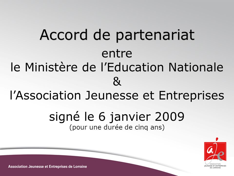 Accord de partenariat