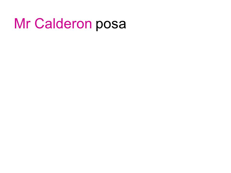 Mr Calderon posa
