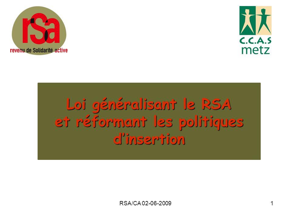 Loi généralisant le RSA et réformant les politiques d'insertion