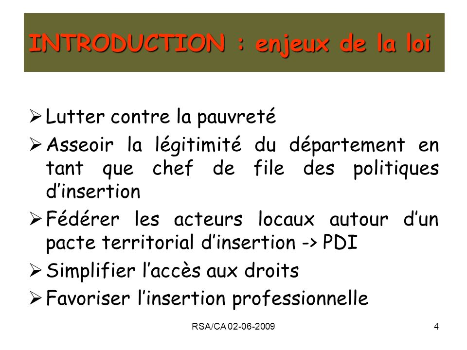 INTRODUCTION : enjeux de la loi