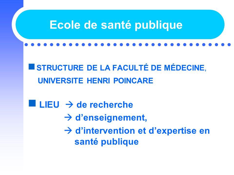 Ecole de santé publique