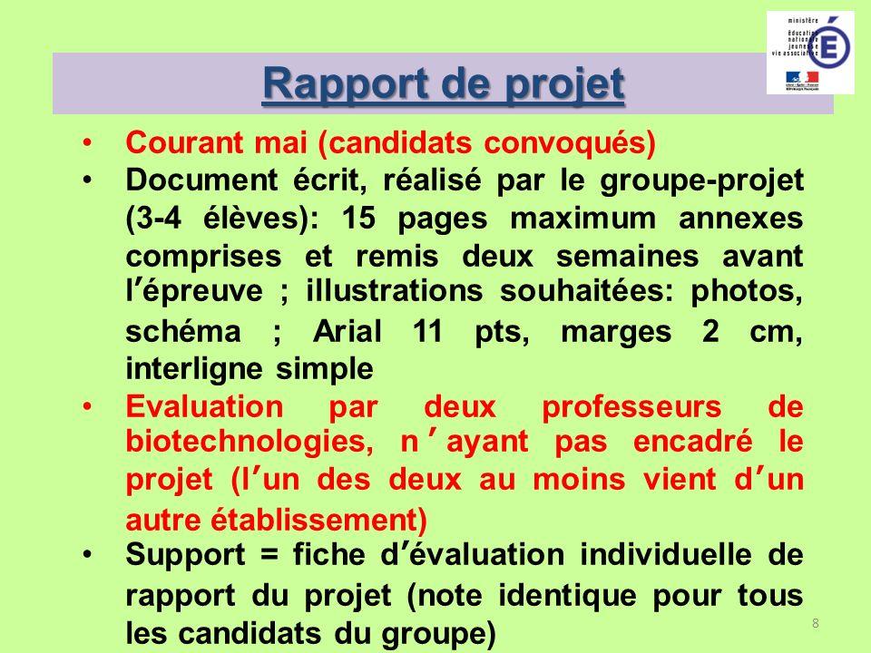 Rapport de projet Courant mai (candidats convoqués)