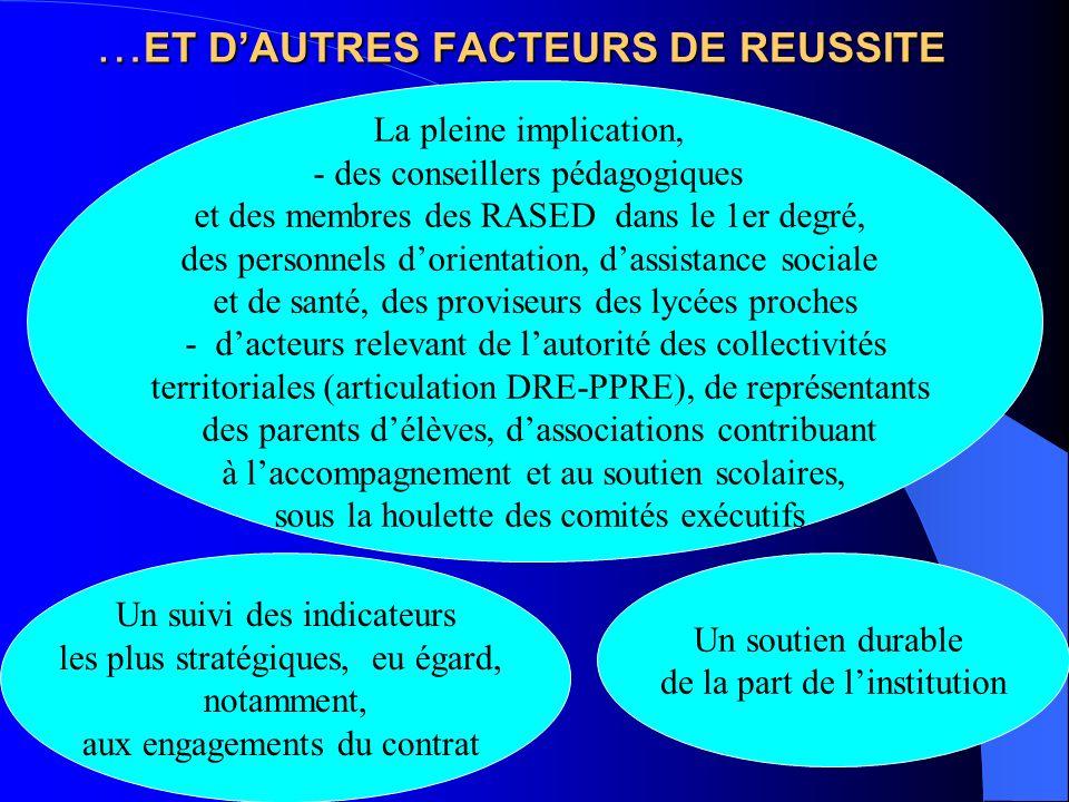 …ET D'AUTRES FACTEURS DE REUSSITE