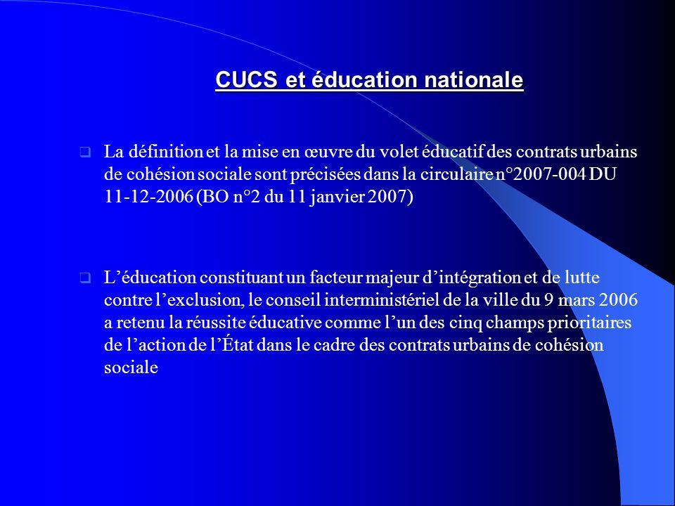 CUCS et éducation nationale
