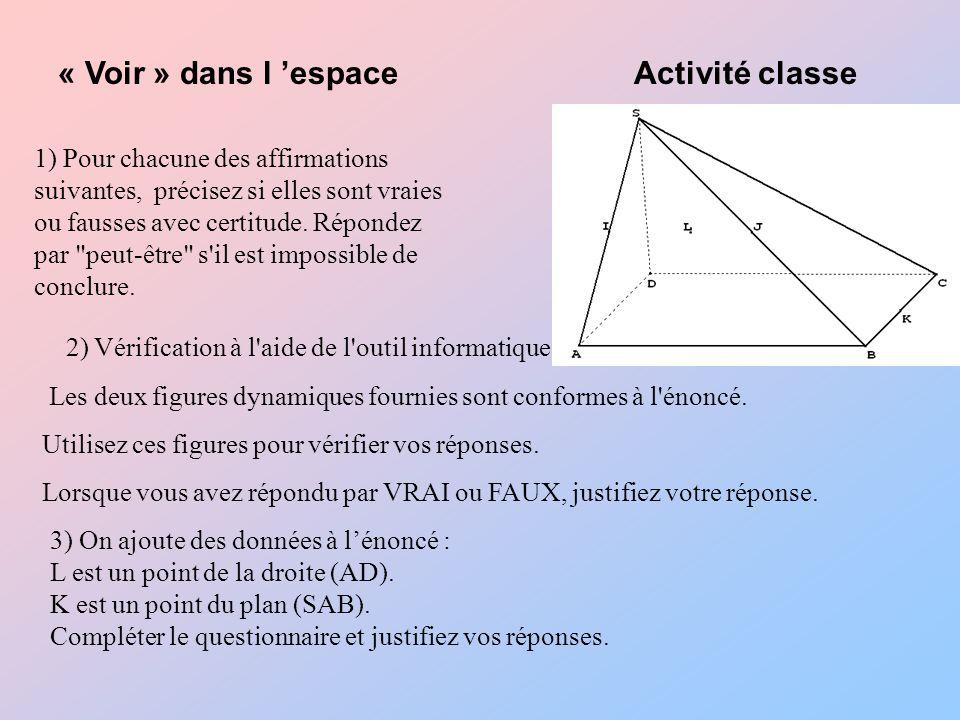 « Voir » dans l 'espace Activité classe