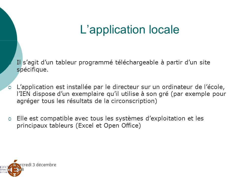 L'application localeIl s'agit d'un tableur programmé téléchargeable à partir d'un site spécifique.