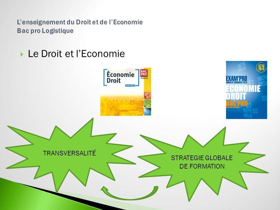 L'enseignement du Droit et de l'Economie Bac pro Logistique