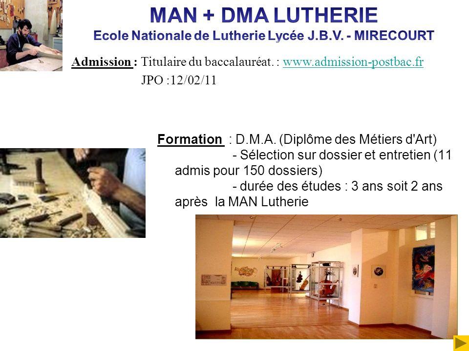 Ecole Nationale de Lutherie Lycée J.B.V. - MIRECOURT