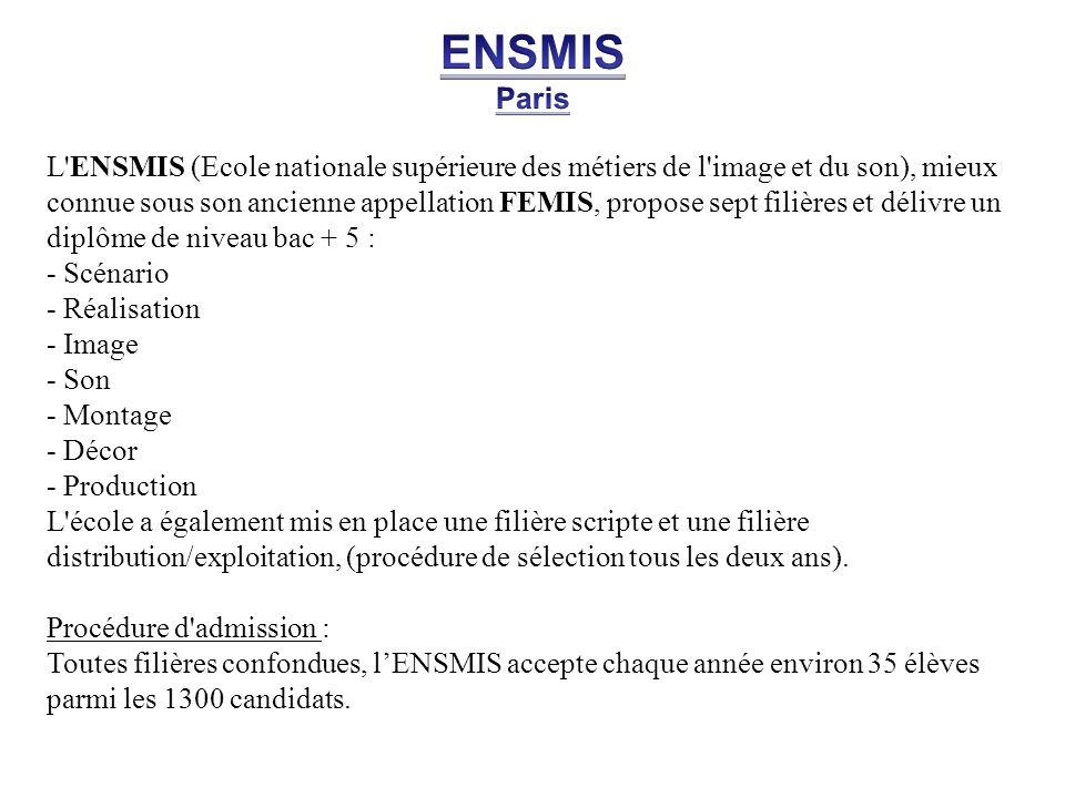 ENSMIS Paris.