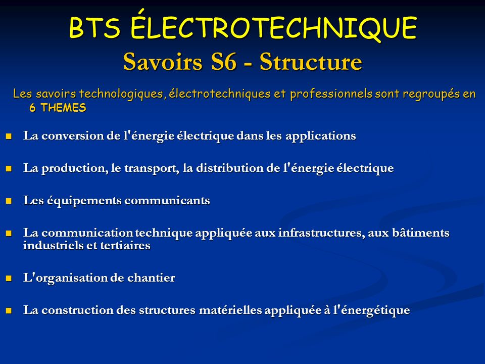 brevet de technicien sup rieur lectrotechnique ppt video online t l charger. Black Bedroom Furniture Sets. Home Design Ideas