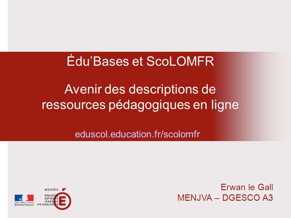 Avenir des descriptions de ressources pédagogiques en ligne
