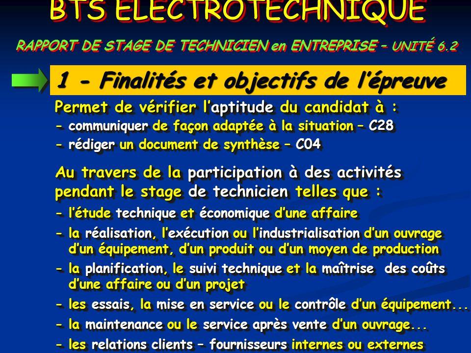 RAPPORT DE STAGE DE TECHNICIEN en ENTREPRISE – UNITÉ 6.2