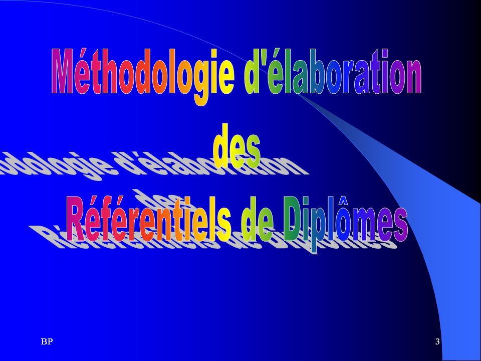 Méthodologie d élaboration des Référentiels de Diplômes