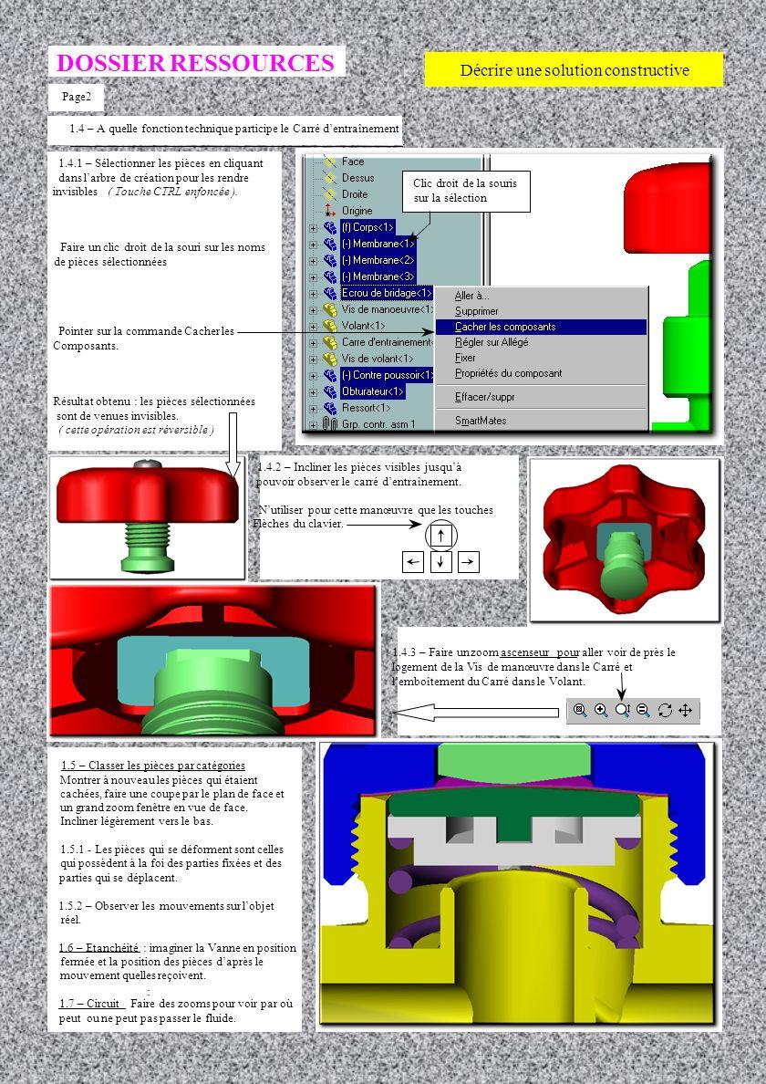 DOSSIER RESSOURCES Décrire une solution constructive Page2
