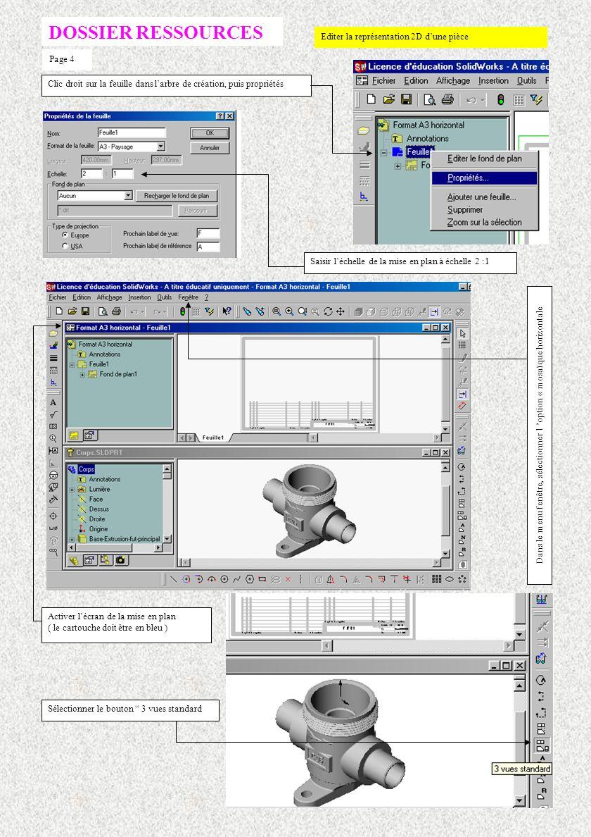 Dans le menu fenêtre, sélectionner l 'option « mosaïque horizontale