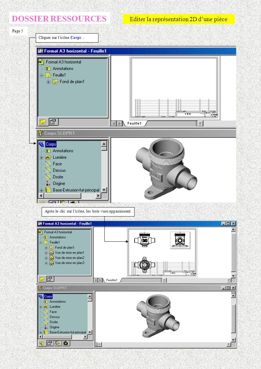Editer la représentation 2D d'une pièce