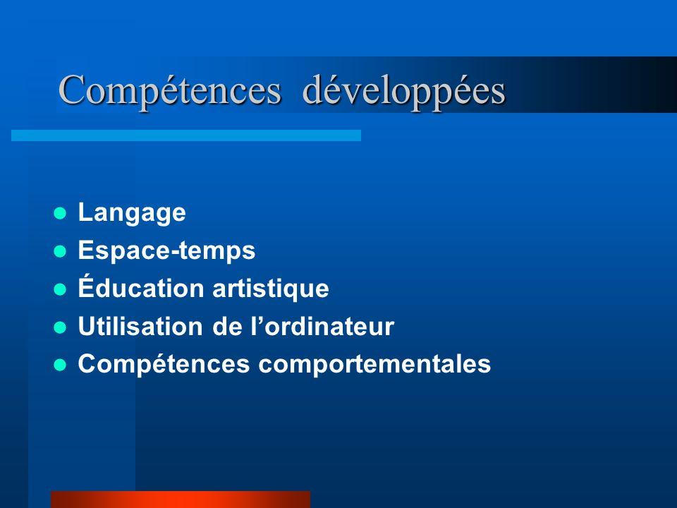 Compétences développées