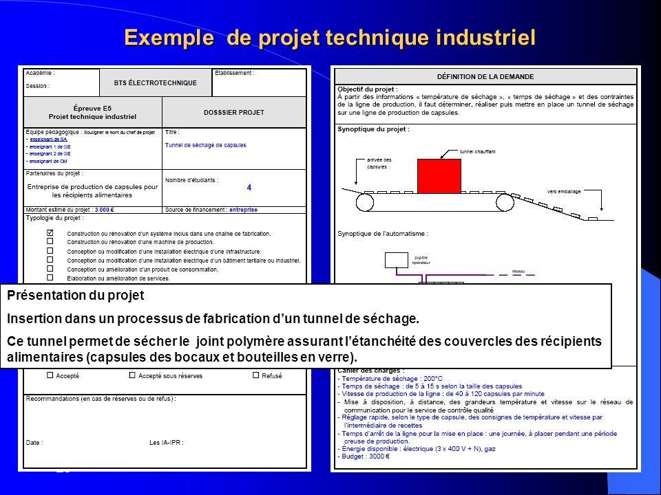 Exemple de projet technique industriel