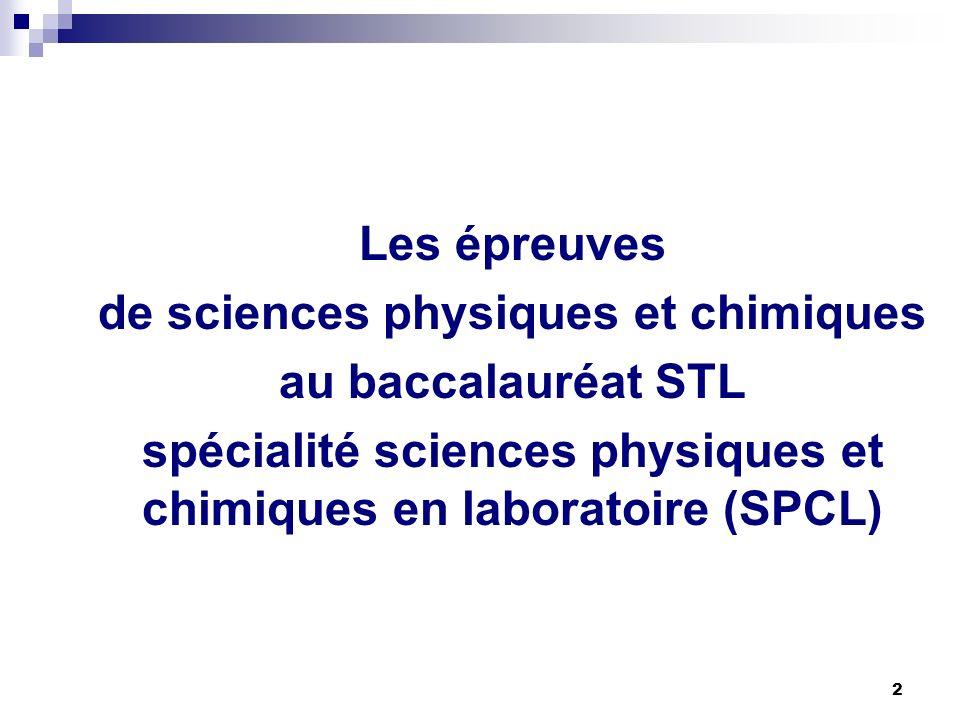 de sciences physiques et chimiques au baccalauréat STL