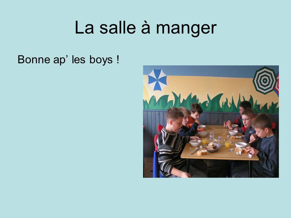 La salle à manger Bonne ap' les boys !