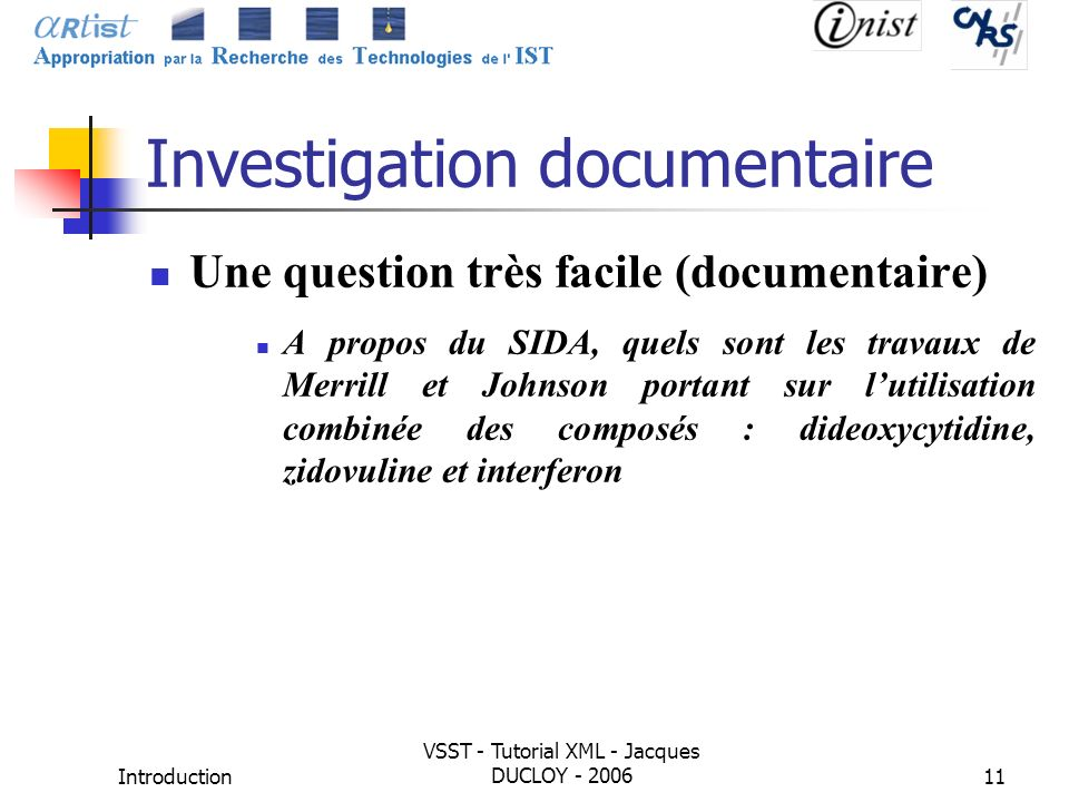 Investigation documentaire