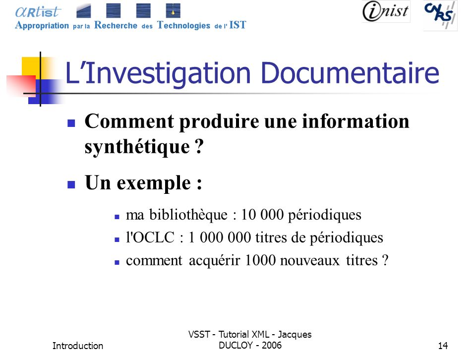 L'Investigation Documentaire