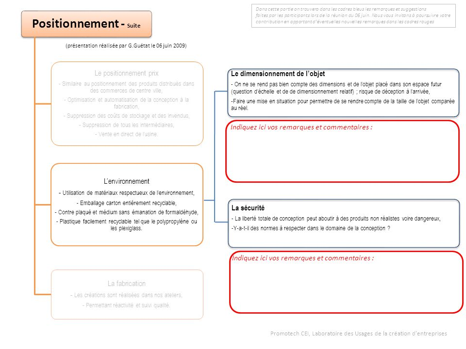 Positionnement - Suite