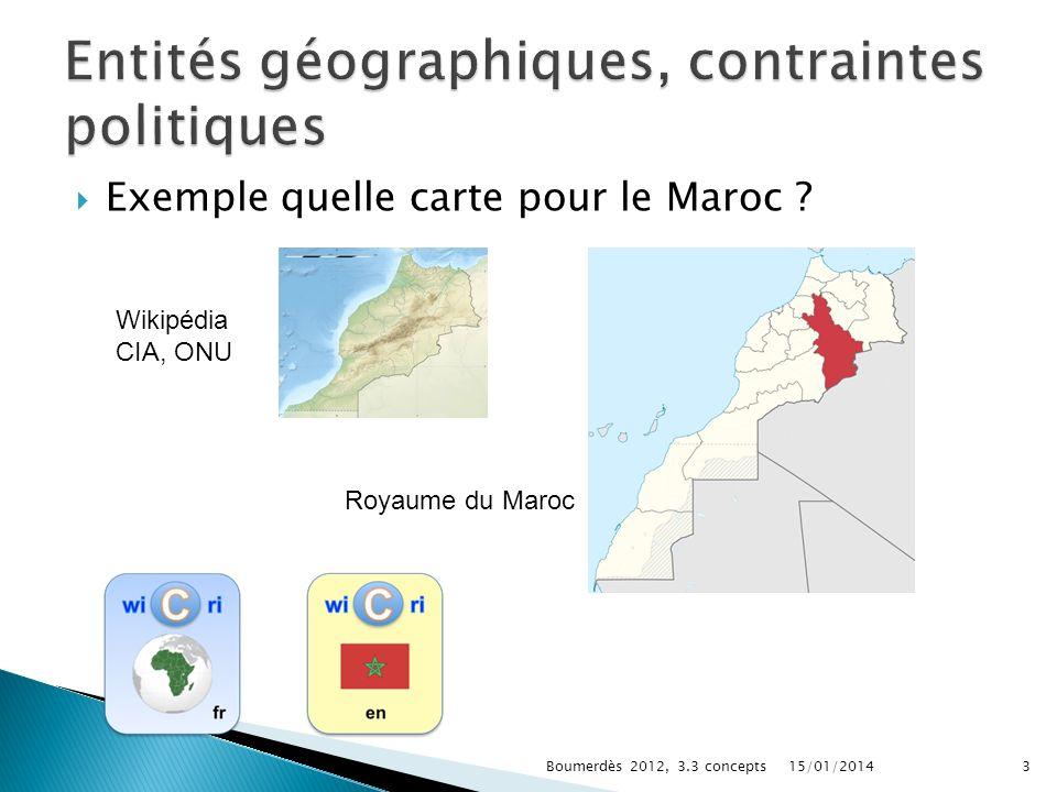 Entités géographiques, contraintes politiques