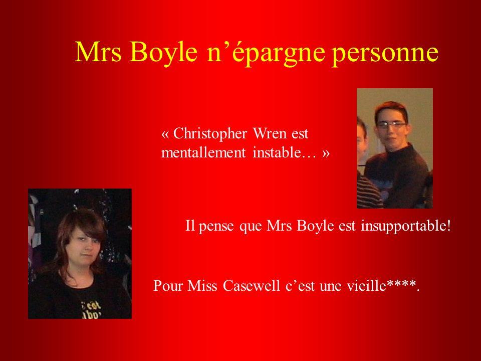 Mrs Boyle n'épargne personne