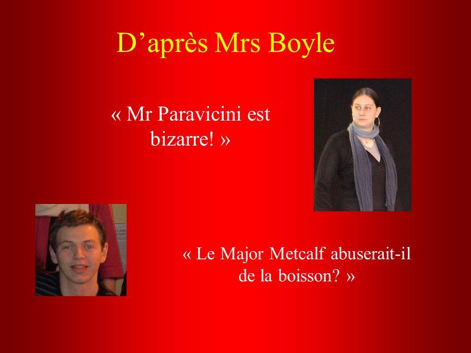 « Mr Paravicini est bizarre! »