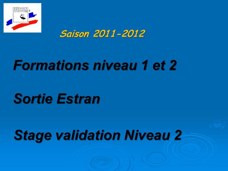 Stage validation Niveau 2