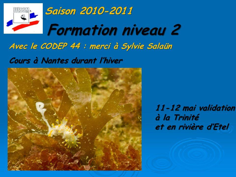 Formation niveau 2 Saison 2010-2011